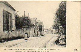 Tarjeta Postal: 605. BARBIZON. Rue avec la: N. c.