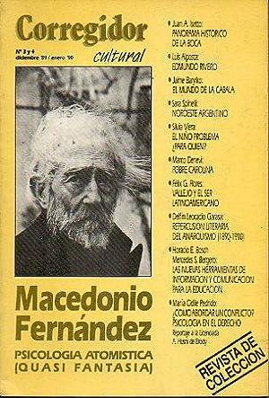 Revista CORREGIDOR CULTURAL. Nº 3-4. Macedonio Fernández: Pampín, Manuel (Dir.)