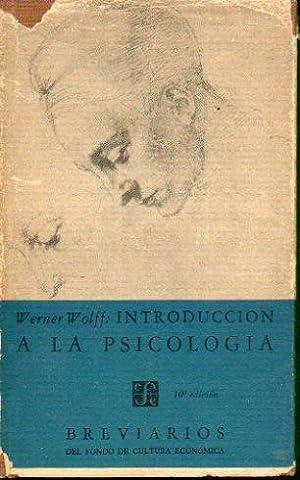 INTRODUCCIÓN A LA PSICOLOGÍA.: Wolff, Werner.