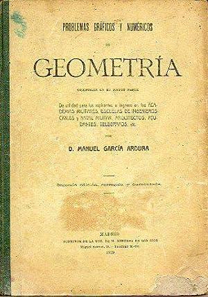 PROBLEMAS GRÁFICOS Y NUMÉRICOS DE GEOMETRÍA ORIGINALES: García Ardura, Manuel.