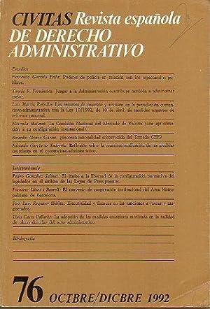 CIVITAS. Revista española de Derecho Administrativo. Nº: García de Enterría,