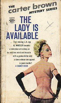 THE LADY IS AVAILABLE. The Carter Brown: Yates, Alan G.