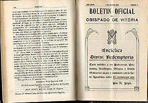 BOLETÍN OFICIAL DEL OBISPADO DE VITORIA. Tomo LXXIII . Año 1937.: Pérez Ormazábal, ...