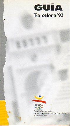 BARCELONA 92. Guía.: COOB 92, S. A.
