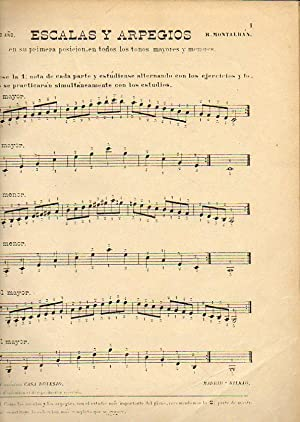 OBRAS PARA PIANO. Segundo Año. ESCALAS Y ARPEGIOS. H. Bertini. Estudios.: Montalbán, R.