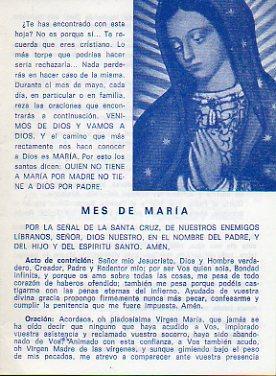 MES DE MARÍA.: Asociación de Sacerdotes y Religiosos de San Antonio María Claret.