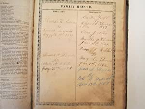 Thomas K. Stevens and Louisa Merrifield Family Bible; The Holy Bible Containing The Old and New T...