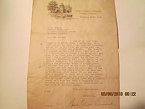 James Oliver Curwood, Typed Letter Signed: James Oliver Curwood