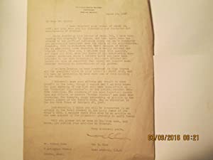 Admiral William S. Sims, Typed Letter Signed: William S. Sims (Admiral)