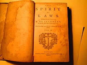 The Spirit of Laws, 2 Volume Set