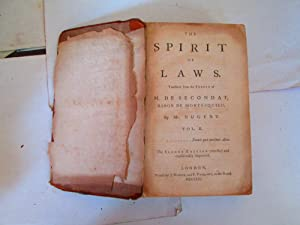 The Spirit of Laws, 2 Volume Set: De Montesquieu