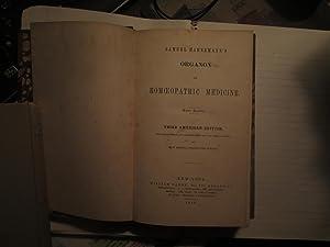 Organon of Homeoeopathic Medicine: Samuel Hahnemann
