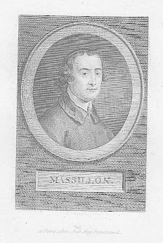 Porträt. Brustbild im Oval. Kupferstich (anonym), ca.: Massillon, Jean-Baptiste (*