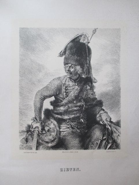 portrat halbfigur in uniform mit pelzkappe zu zieten hans joachim