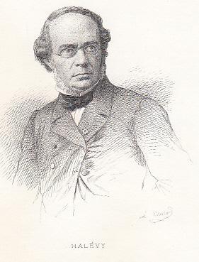 Porträt. Brustbild. Radierung von Massard, Blattgröße: 26: Halevy, Jacques Francois