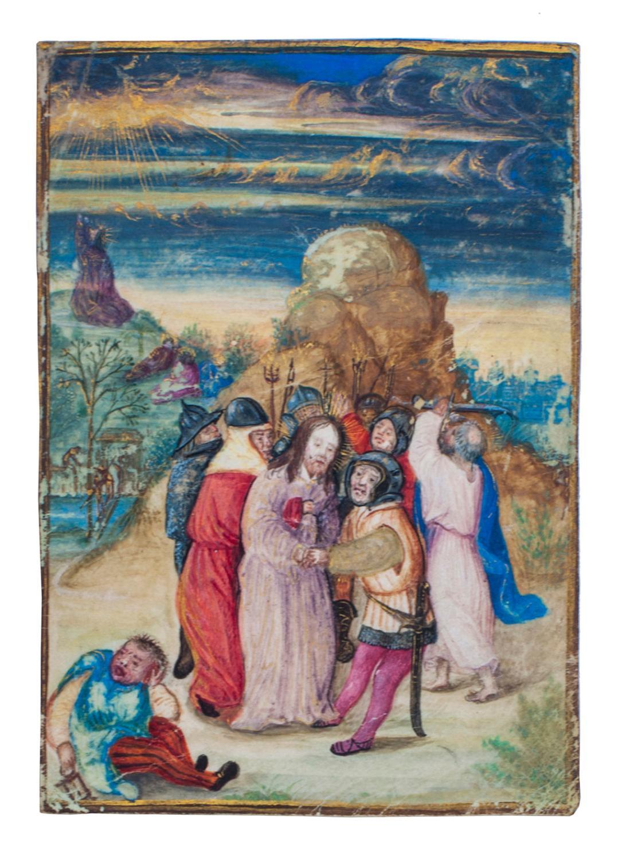 The Arrest of Christ].[Flanders (Bruges?), or Nürnberg,: MINIATURE - GERMAN].