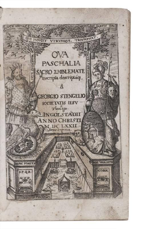 Ova paschalia sacro emblemate inscripta descriptaque.Ingolstadt, (colophon: STENGEL, Georg.