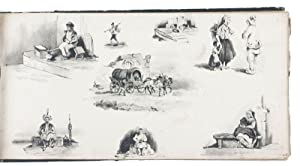 Album with 47 charming drawings in several: DRAWINGS]. VOITURON, Paul,