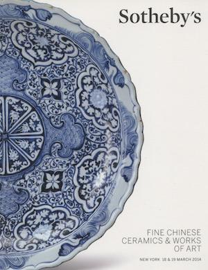 Fine Chinese Ceramics and Works of Art, New York, 18 & 19 March 2014.: Sotheby's.