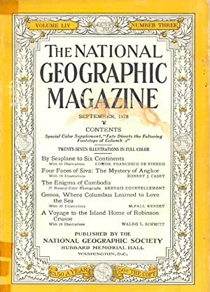 The National Geographic Magazine September 1928 Includes: National Geographic.