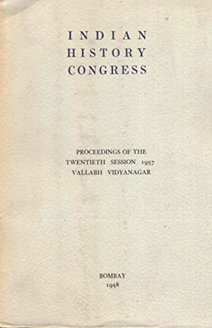 Indian History Congress. Proceedings of The Twentieth: Moraes, Dr. George,