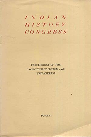Indian History Congress. Proceedings of The Twenty-First: Moraes, Dr. George,