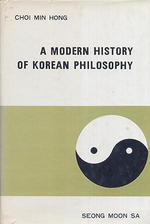 A Modern History of Korean Philosophy.: Sa, Seong Moon.