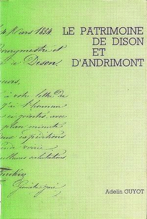 LE PATRIMOINE DE DISON ET D'ANDRIMONT: GUYOT ADELIN
