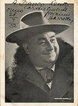 Fotografia con dedica (1952): Barrella Giovanni