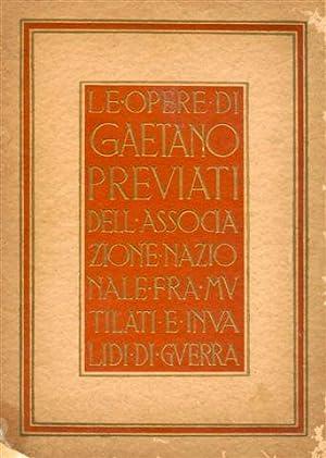 Le opere di Gaetano Previati dell'Associazione Nazionale: Sarfatti Margherita