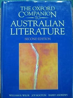 The Oxford Companion to Australian Literature.: WILDE, William H.,