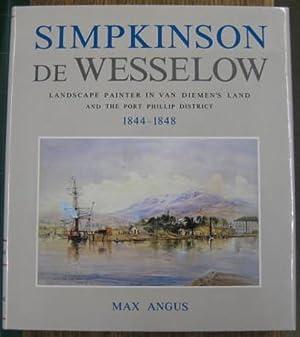 Simpkinson de Wesselow : landscape painter in: ANGUS, Max