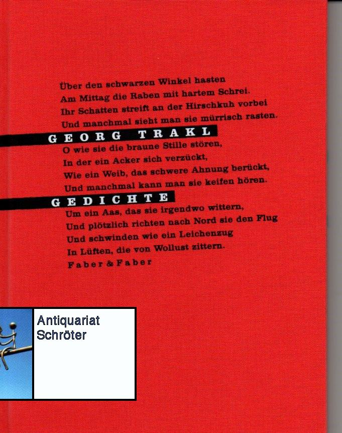 Gedichte (in der Erstfassung von Mai 1913).: Trakl, Georg (1887-1914):