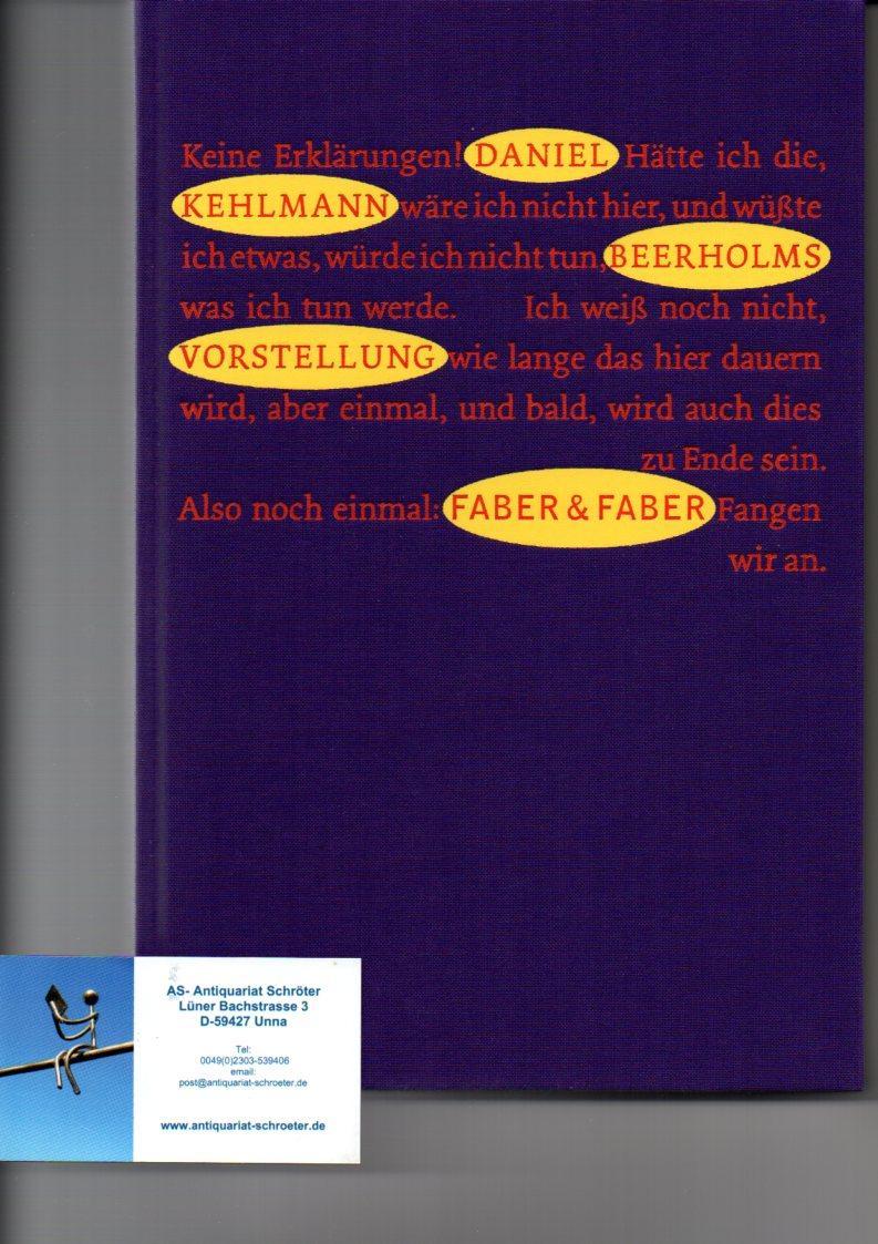 Beerholms Vorstellung. Mit 12 farbigen Vignetten und: Kehlmann, Daniel (1975):