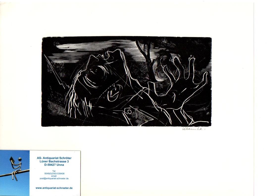 Original-Holzstich. Illustration in der Zeitschrift Ulenspiegel zu: Klemke, Werner: