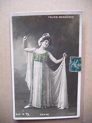 Cavini. Motiv: Tänzerin im Kleid.: Folies-Bergeres.