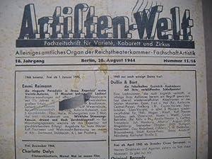 Artisten-Welt. Fachzeitschrift für Variete, Kabarett und Zirkus. Alleiniges Organ der ...
