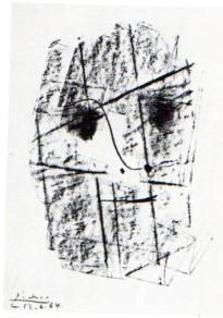 Original-Lithographie. Titel: Le Visage. Mit Bleistift von: Picasso, Pablo: