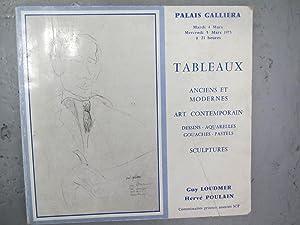 Palais Galliera-vente du 4et 5 mars 1975: Loudmer-Poulain commissaires priseurs