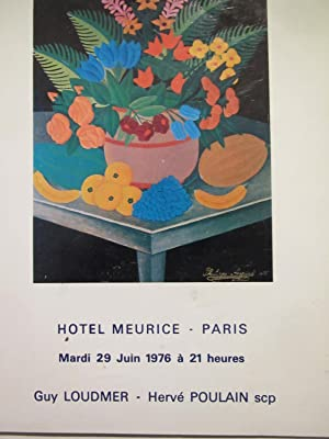 Peintures Haïtiennes vente du 29 juin 1976: Loudmer,Poulain commissaires priseurs
