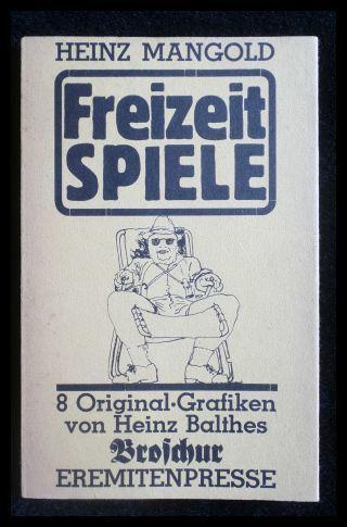 Freizeitspiele: Mangold, Heinz: