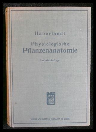 physiologische pflanzenanatomie von haberlandt - ZVAB