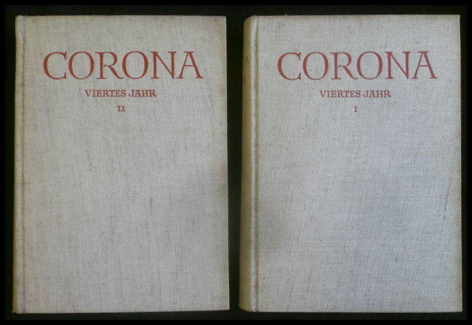Corona; viertes Jahr I und II Band;: Martin Bodmer, Herbert