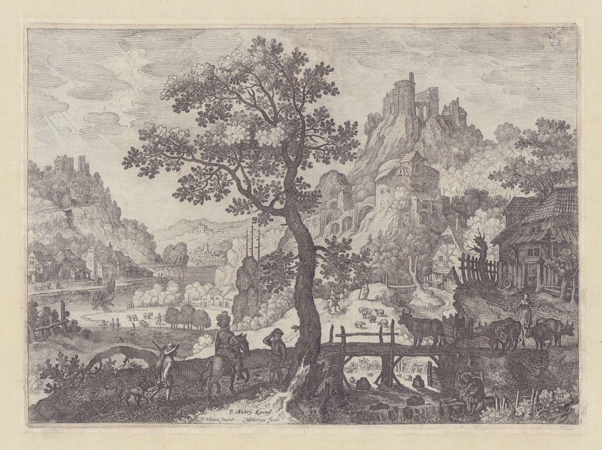 Talenge mit Burgen (Axtträger grüßt Reiter). Teil: Merian, Matthäus d.