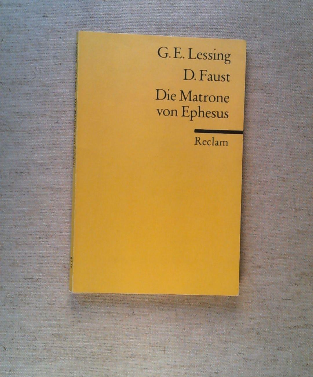Doktor Faust: Lessing, G. E.: