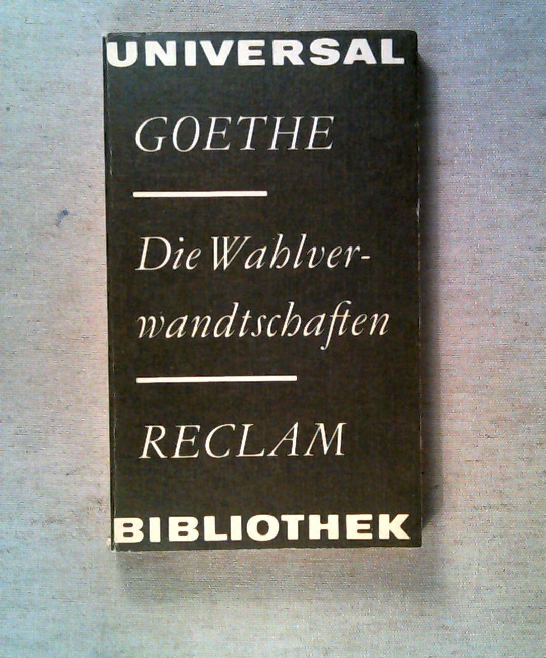 Die Wahlwanderschaften (Universal Bibliothek Band 420).: Goethe
