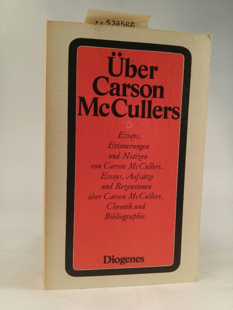 Über Carson McCullers (20/8). - Haffmans, Gerd. und Carson McCullers
