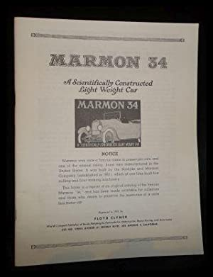 Marmon 34; a scientifically constructed light weight: Nordyke and Marmon