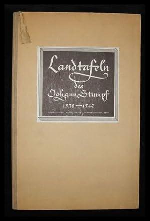 Die Landtafeln Des Johann Stumpf 1538 -: Weisz, Leo (Hrsg.):