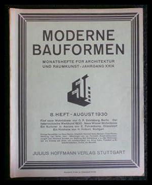 Moderne Bauformen - Monatshefte für Architektur und: Hoffmann, Julius (Hrsg.)